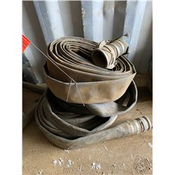 FT.MAC: LOT OF 3 LAY-FLAT HOSE 3IN X 50FT