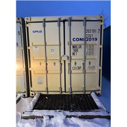 FT.MAC: 20FT SKIDDED STORAGE CONTAINER C/W