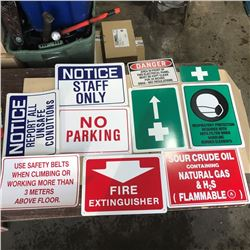 SH. PARK: ASSORTED SAFETY SIGNS AND PLACARDS