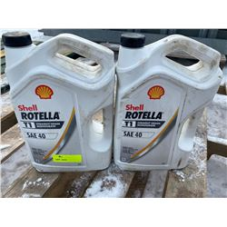 SH. PRK: TWO 5L JUGS OF SHELL ROTELLA SAE40 DIESEL