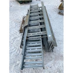 SH. PRK: LOT OF ASSORTED GALVINIZED CABLE TRAY