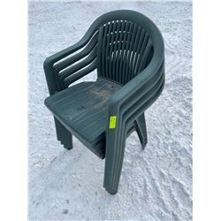 SH. PRK: LOT OF 4 PLASTIC DECK CHAIRS