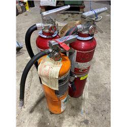 SH. PARK: LOT OF THREE 10LB FIRE EXTINGUISHERS