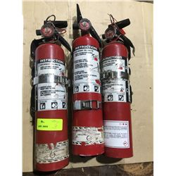 SH. PARK: LOT OF THREE 2-1/2LB FIRE EXTINGUISHERS