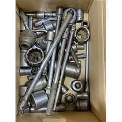 """SH. PARK: BOX OF ASSORTED 1/2"""" SOCKETS / WRENCHES"""