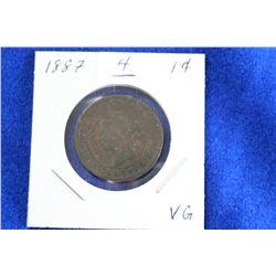 Cda One Cent Coin (1) - 1887, VG