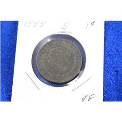 Cda One Cent Coin (1) - 1888, VF
