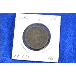 Cda One Cent Coin (1) - 1891, VG -  LL; LD