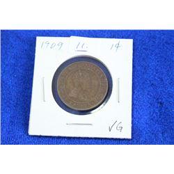 Cda One Cent Coin (1) - 1909, VG