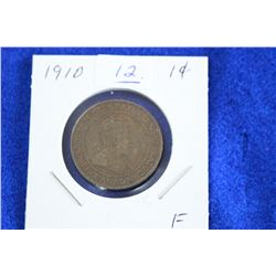 Cda One Cent Coin (1) - 1910, F