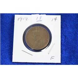 Cda One Cent Coin (1) - 1912, F