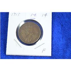 Cda One Cent Coin (1) - 1913, F