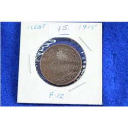 Cda One Cent Coin (1) - 1915, F-12