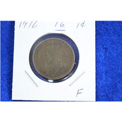 Cda One Cent Coin (1) - 1916, F