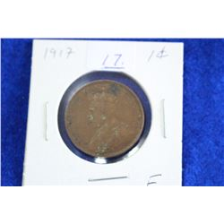 Cda One Cent Coin (1) - 1917, F