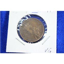 Cda One Cent Coin (1) - 1918, VG