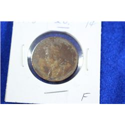 Cda One Cent Coin (1) - 1918, F