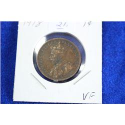 Cda One Cent Coin (1) - 1918, VF