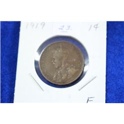 Cda One Cent Coin (1) - 1919, F
