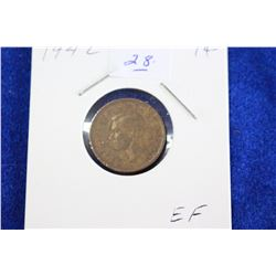 Cda One Cent Coin (1) - 1942, EF