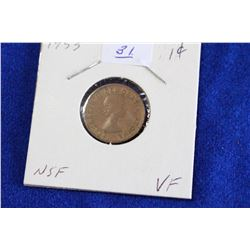 Cda One Cent Coin (1) - 1953, VF, NSF