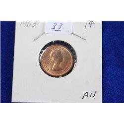 Cda One Cent Coin (1) - 1963, AU