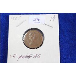 Cda One Cent Coin (1) - 1965, VF, LB, B5