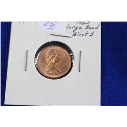 Cda One Cent Coin (1) - 1965, AU, LB, B5