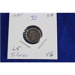 Cda Five Cent Coin (1) - 1885, VG, L5