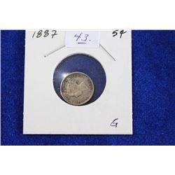 Cda Five Cent Coin (1) - 1887, G