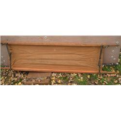 31A the stretcher old canvas as is, wood so great ! civière toile comme telle et manche en bois