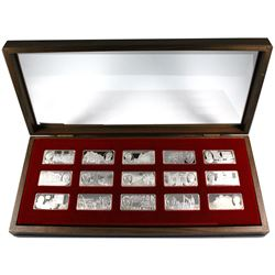*The Official Prime Ministers of Canada Sterling Silver Ingot Collection.  (15 bars) each bar is app