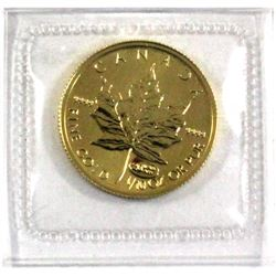 1999 Canada 1/10oz 20 Years Privy .9999 Fine Gold Maple Leaf in Original Sealed Mint Plastic (Small