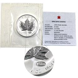 2000 Canada 1oz Hannover Expo Privy .9999 Fine Silver Maple Leaf in Sealed Mint Plastic with COA. (T
