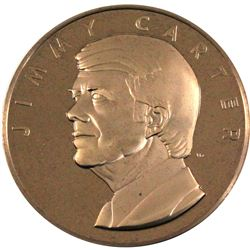 1977 Jimmy Carter The Official Presidential Inaugural Medal Minted by the Franklin Mint. Comes in or