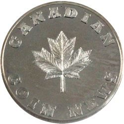 Very Scarce! 1/2oz Canadian Coin News .999 Fine Silver Round Struck Exclusively for CCN by the Lasqu