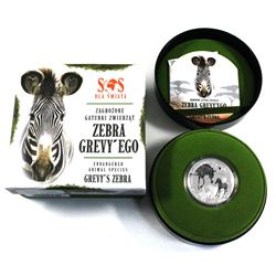 2014 Niue $1 SOS Endangered Animal Species of the World Fine Silver Coloured Coin Series - Gravy's Z
