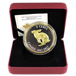 2017 Canada 5-cent Big Coin - Alex Colville Designs 5oz Fine Silver Coin with Gold Plating. (TAX Exe