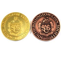 1998 South Wellington coin society (SWCS) Copper & 2017 Banquet Medal Including a full colour 135 pa