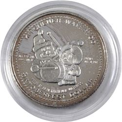 1981 Kitchener-Waterloo .999 Fine Silver Oktoberfest $1.00 Token. Coin is lightly toned (Tax Exempt)