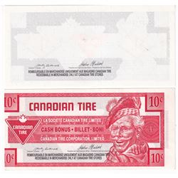 Printing Error! Pair of Canadian Tire 10-cent & $1 Paper Money with printing errors. 2pcs