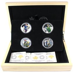 2016 Canada $15 National Heroes 4-coin Fine Silver Set & Deluxe Box (Tax Exempt)