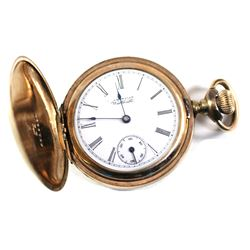 Antique American Waltham Watch Co. Gold Filled Pocket Watch Inscribed 1895 Inside. APR231891, Serial