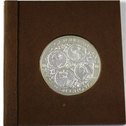 1976 Turks and Caicos Islands 50 Crown Matte Proof Coin in Holder with COA. Weighs 55.18 grams for a