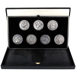 Royal Seals of the Jubilee Monarch Set of 7x .999 Fine Silver Medallions. Limited edition complete s