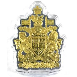 2020 Canada $50 Real Shapes - The Coat of Arms Fine Silver Coin (Tax Exempt). Coin comes encapsulate