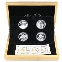 2015 Canada $20 Full American Sportfish 4-Coin Fine Silver Set in Deluxe Case. (TAX Exempt)