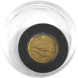 1973 Commonwealth of the Bahamas $10 Independence 14K Gold Coin Encapsulated in Royal Mint Display B