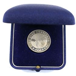 1972 Nicaragua 1 Cordoba Proof Coin with Case.