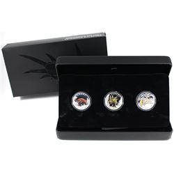 2016 Canada $10 Day of the Dinosaurs Fine Silver 3-Coin Set. (TAX Exempt)